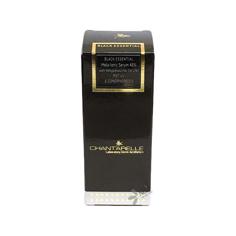 Chantarelle Black Essential Mela-Ionic Serum 48% with Hexylresorcinol 0.6 UNI PDT UV & Sonophoresis 30 ml